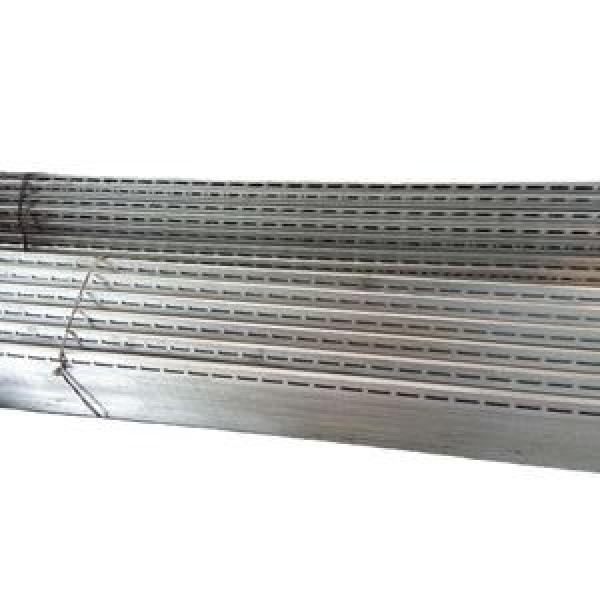 Galvanized V shaped equal types of stainless mild steel slotted angle steel iron bar prices with standard sizes and weights #1 image