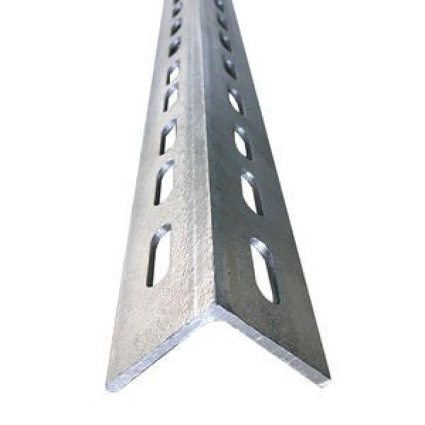Hot Sale!Factory supply punched holes equal and unequal galvanized perforated iron Slotted Angle Steel Bars for racking shelf #3 image