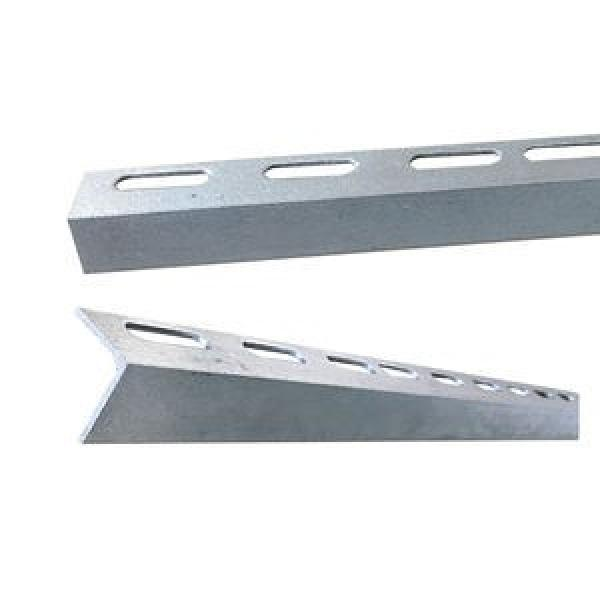 Hot Sale!Factory supply punched holes equal and unequal galvanized perforated iron Slotted Angle Steel Bars for racking shelf #1 image